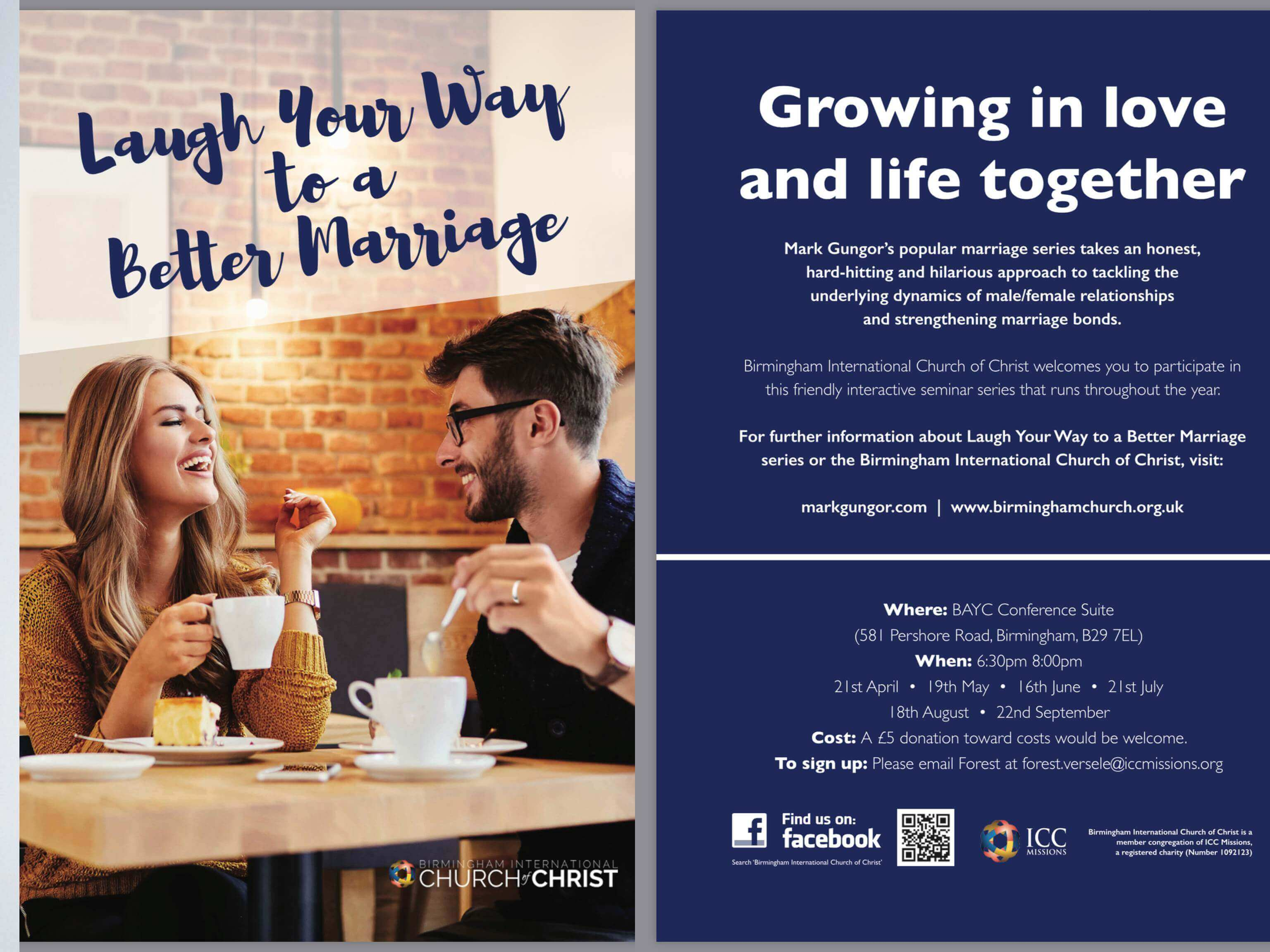 Laugh Your Way to a Better Marriage Flyer