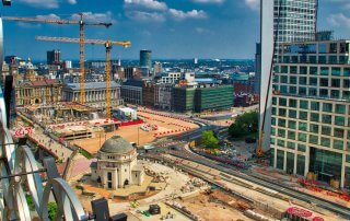 birmingham uk 2018 being rebuilt