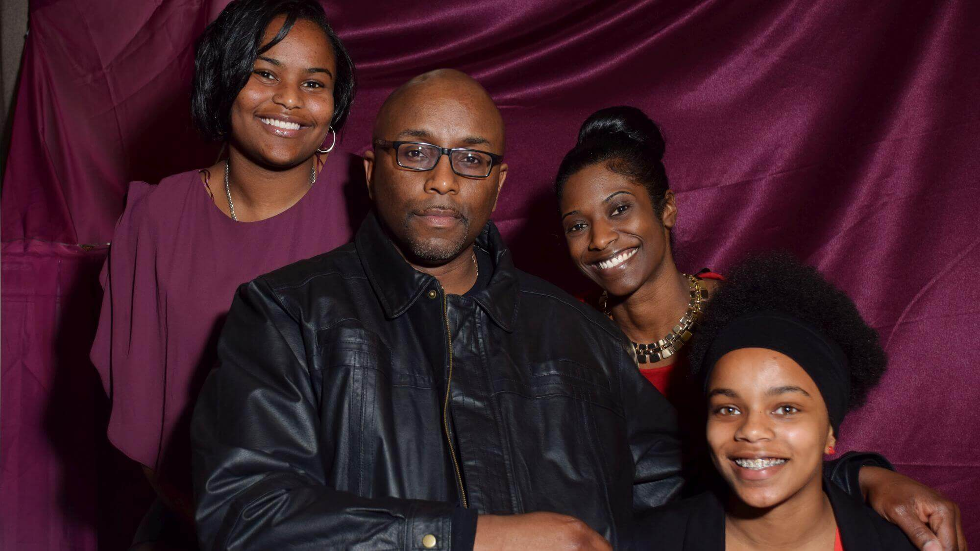 father with his four daughters at birmingham father & daughter dance