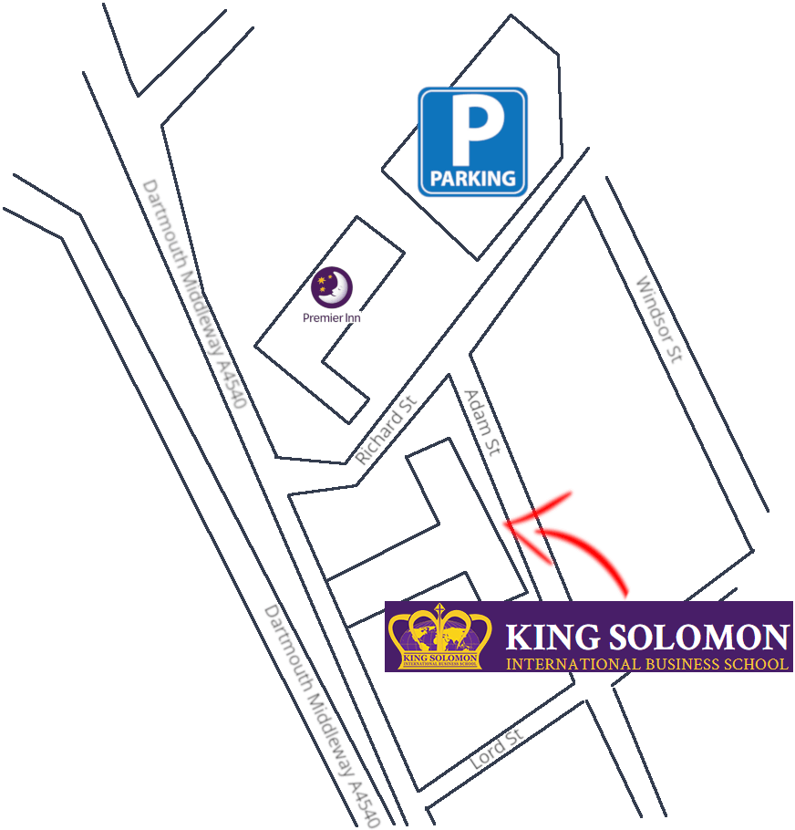 map king solomon business school parking