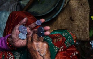 all for jesus elderly woman counting coins